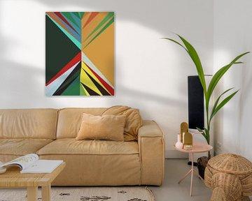 Abstracte samenstelling 1051 van Angel Estevez