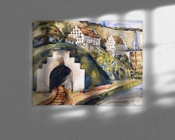 Tunnel bei Wasserburg am Inn, Paul Kleinschmidt,  1924 von Atelier Liesjes
