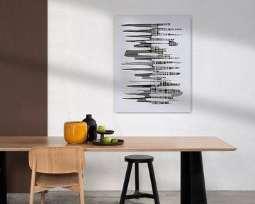 Abstracte samenstelling 1068 van Angel Estevez