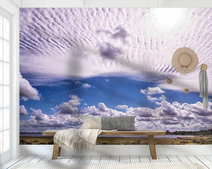 Sfeerimpressie behang: StratusWolken boven het Grevelingenmeer van Brian Morgan