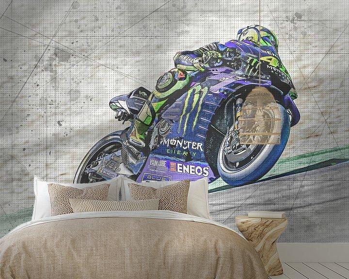 Beispiel fototapete: Valentino Rossi #46 Yamaha-Team von Theo Groote