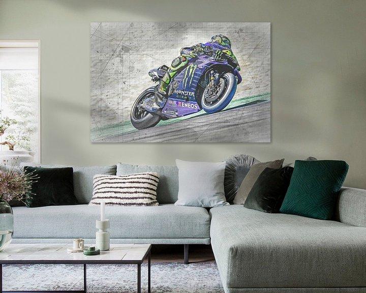 Beispiel: Valentino Rossi #46 Yamaha-Team von Theo Groote