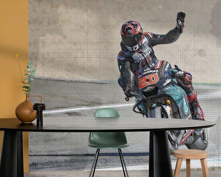 Beispiel fototapete: Fabio Quartararo #20 Motul TT Assen von Theo Groote