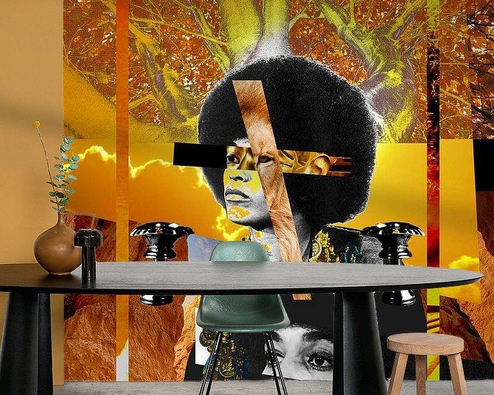 Beispiel fototapete: Angela Davis von Frank Pap