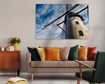"""Moulin à vent traditionnel sous le """"climat néerlandais sur Aron van Oort"""