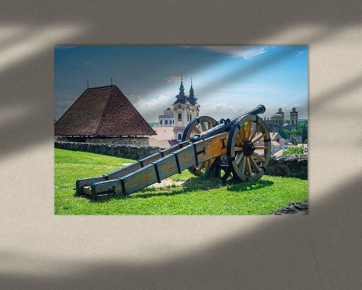 Beispiel: Kanone auf der Mauer der Burg von Eger, Ungarn von Menno van der Haven