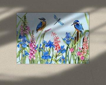 Island Vögel Wildblumen von Geertje Burgers
