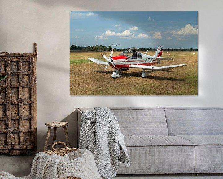 Sfeerimpressie: Vliegtuig Robin DR400 van MSP Canvas
