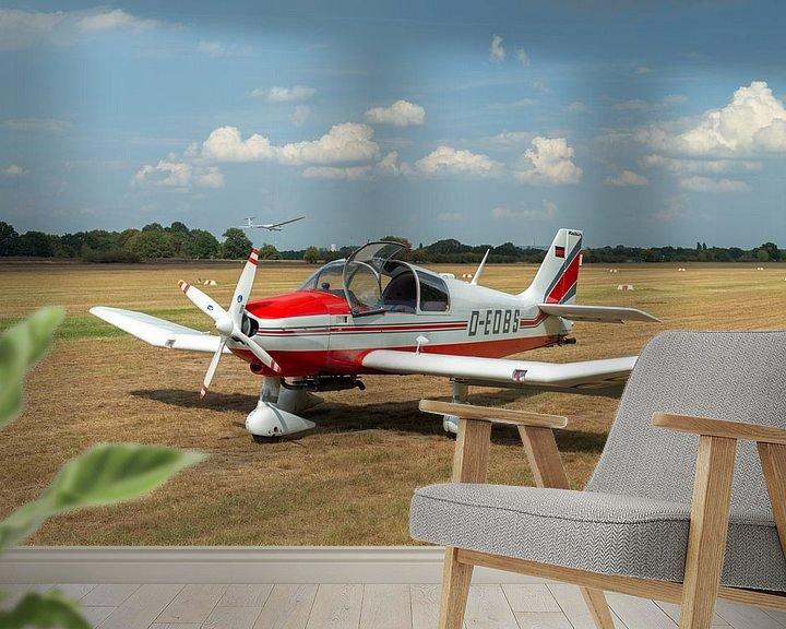 Sfeerimpressie behang: Vliegtuig Robin DR400 van MSP Canvas