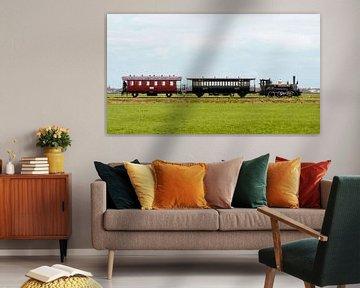Bello avec train local I Musée Tramway à vapeur Hoorn - Medemblik I Hollande du Nord I Vintage sur Floris Trapman