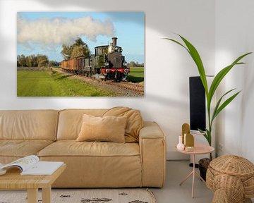 Train à vapeur en direction du musée de Hoorn I Tramway à vapeur Hoorn-Medemblik I Twisk I Hollande  sur Floris Trapman