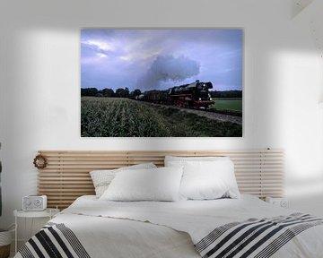Train de marchandises I Veluwe Steam Train Company I Sunrise I Veluwe I Vintage colour print