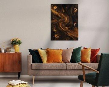 Golden flow van Miriam Sanders