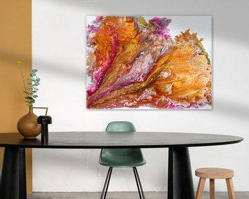 Orange and Gold van Yvonne Smits
