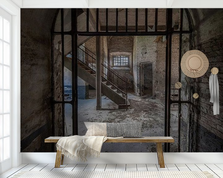 Sfeerimpressie behang: Urbex Tuchthuis Vilvoorde van Steven Dijkshoorn