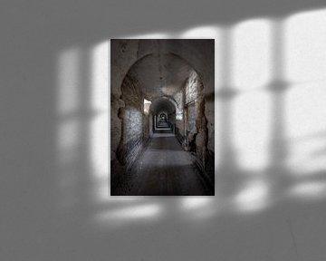 Verlaten gevangenis uit de  achttiende eeuw in België