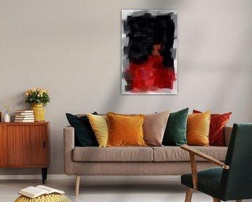 Abstract in rood zwart van Maurice Dawson