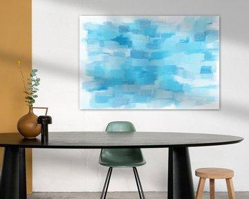 Abstract in blauw van Maurice Dawson