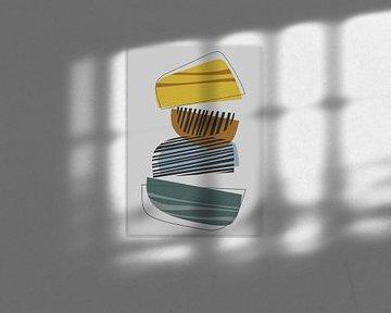 Abstracte samenstelling 1073 van Angel Estevez