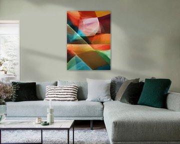 Abstracte samenstelling 1077 van Angel Estevez