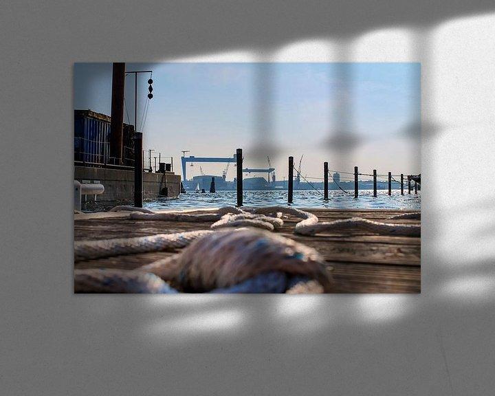 Sfeerimpressie: Bouwplaats in de haven van Kiel met zicht op de Baltische Zee van MPfoto71