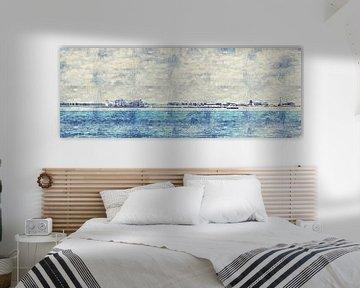 Panorama Breskens (Zeeland) (Gemälde) von Art by Jeronimo