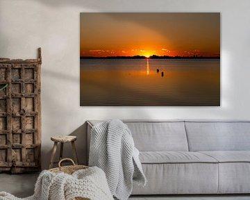 Eiland Fehmarn, zonsondergang, Fehmarn eiland, speciale zone van Karin Luttmer
