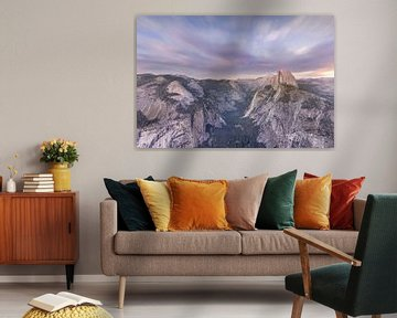 Zonsondergang bij Glacier Point