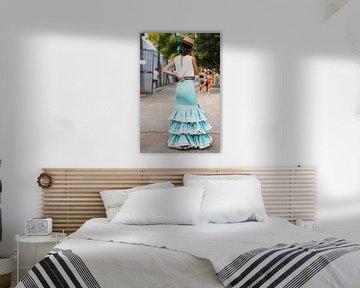 Andalusien - Traditionelle Kleidung während der Feria de Málaga