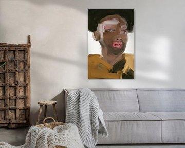 Modernes Porträt von Carla Van Iersel