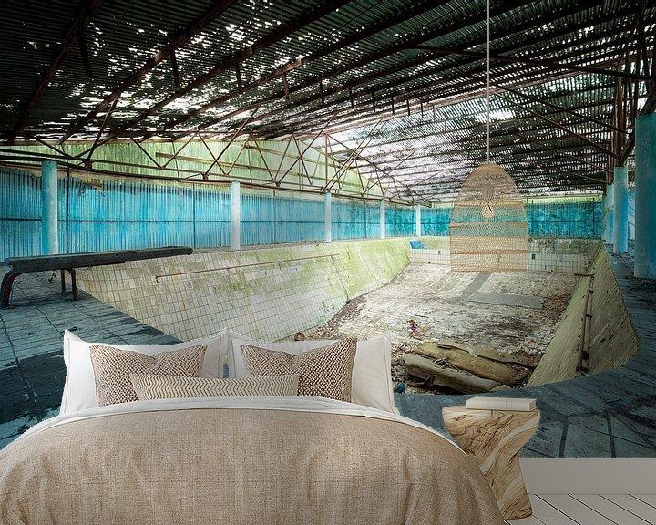 Beispiel fototapete: Schwimmbad im Niedergang von Kristof Ven