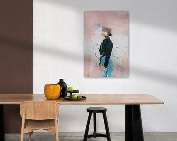 Portret pasteltinten van Carla Van Iersel