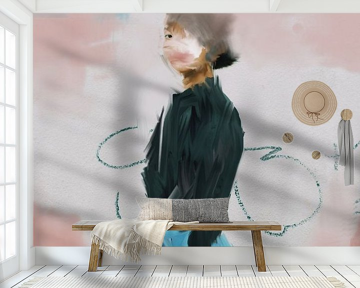 Beispiel fototapete: Porträt-Pastelltöne von Carla Van Iersel