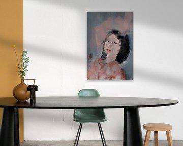 Porträt einer asiatischen Frau von Carla Van Iersel