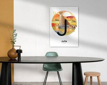 Namensplakat Julie von Hannahland .