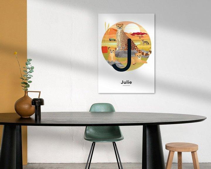 Beispiel: Namensplakat Julie von Hannahland .