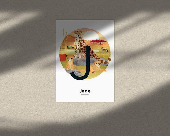 Beispiel: Namensplakat Jade von Hannahland .