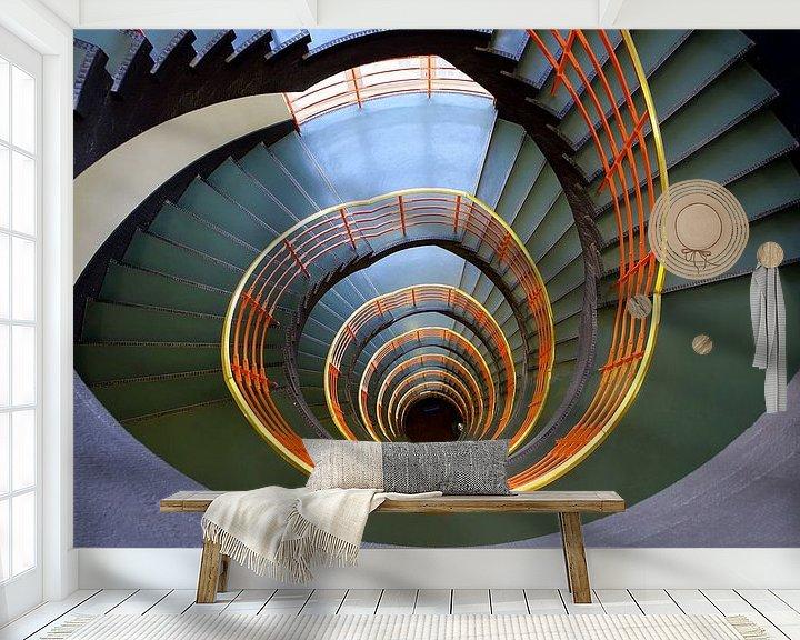 Beispiel fototapete: Konturhaustreppe Hamburg von Patrick Lohmüller
