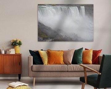 Zicht op de Niagara watervallen van Bernard van Zwol