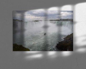 Zicht op Niagara watervallen van Bernard van Zwol