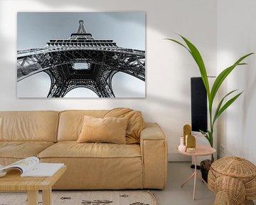 Eiffeltoren in Parijs / zwart-wit van Werner Dieterich