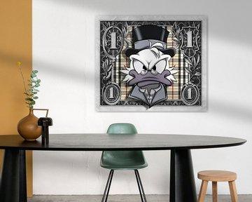 1 Dollar Dagobert Mc Duck BB von Rene Ladenius Digital Art