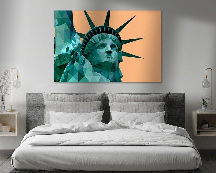 Beispiel: Low Poly - Freiheitsstatue, New York - Amerika von Be More Outdoor