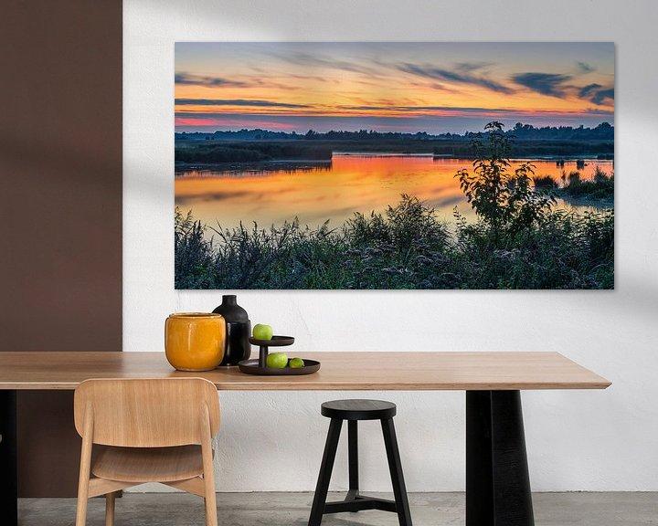 Sfeerimpressie: Zonsondergang in de Onlanden, Groningen van Henk Meijer Photography