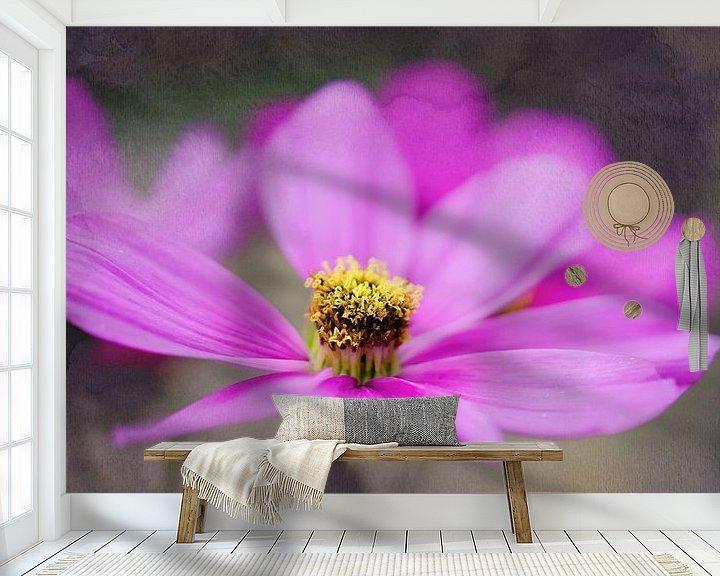 Sfeerimpressie behang: Pink Flower van Anita Servaas