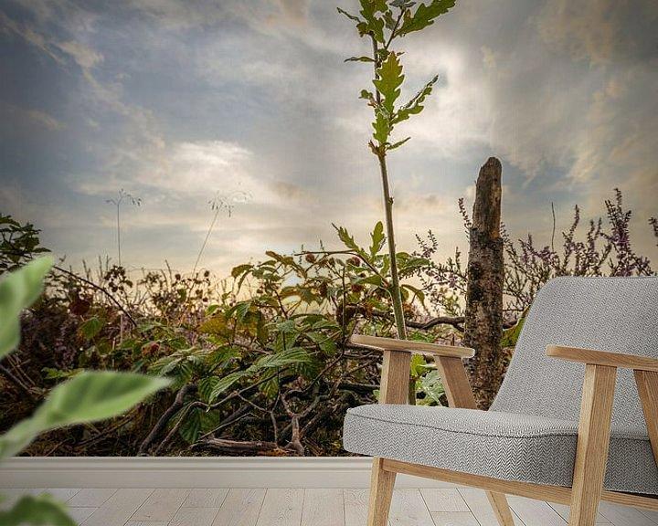 Sfeerimpressie behang: De kleine eik van Jaap Tempelman