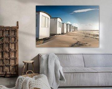 Strandhutten in Løkken van Florian Kunde