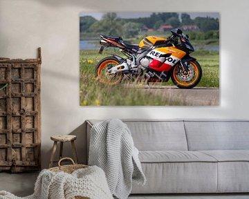 Honda Fireblade Repsol motorfiets van Joost Winkens