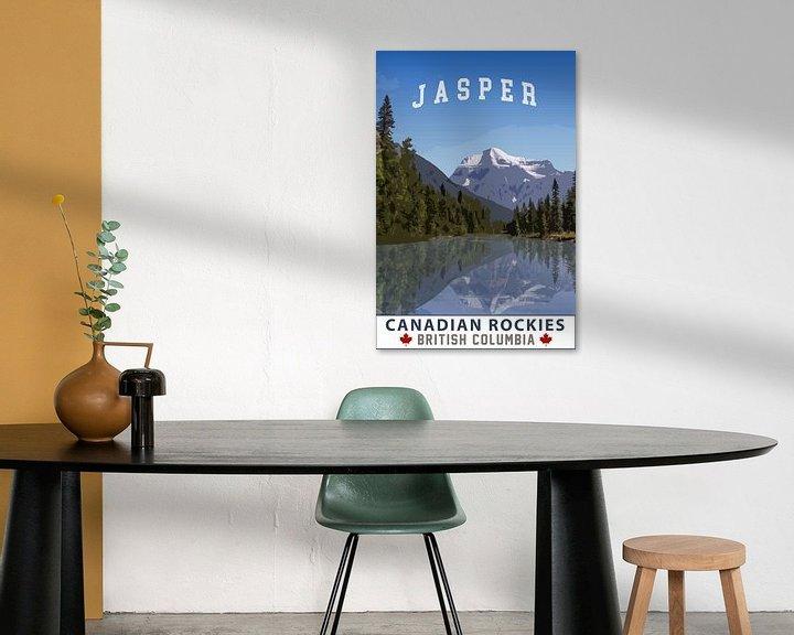 Sfeerimpressie: Jasper Alberta Canada Vintage Tourism poster van Joost Winkens