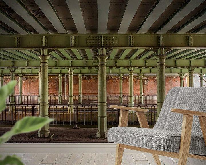 Beispiel fototapete: Pfeiler unter einer Brücke von Martijn Tilroe